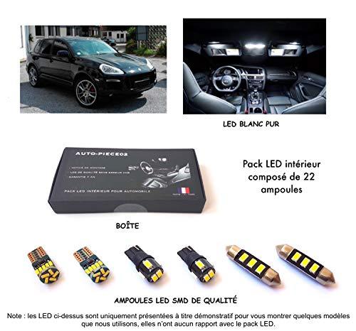 Pack FULL LED intérieur pour Cayenne 1 de 2002 à 2010 (Kit ampoules blanc pur)