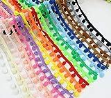 30 m cinta pasamaneria madroños algodon de 17 colores 1.80 m de cada color costura, manualidades cojines, cocina, caravanas, toallas, scrapbooking, de CHIPYHOME