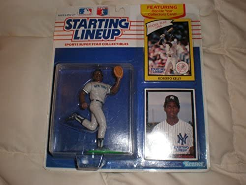 100% autentico Roberto Kelly Starting Lineup 1990 1990 1990 featuring rookie year collector's card [Toy] by Starting Line Up  ventas en linea