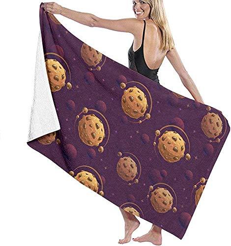 Lfff Asciugamano da Spiaggia in Microfibra Pianeti al Cioccolato Asciugamano da Bagno Coperta da Spiaggia Asciugamano ad Asciugatura Rapida per Viaggi Nuoto Piscina Yoga 80 cm x 130 cm