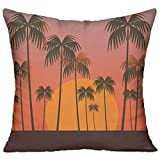 FPDecor Polyester Zierkissen,Hawaii Palm Tree,Pillow Covers Decorative Pillowcase Cushion Covers...