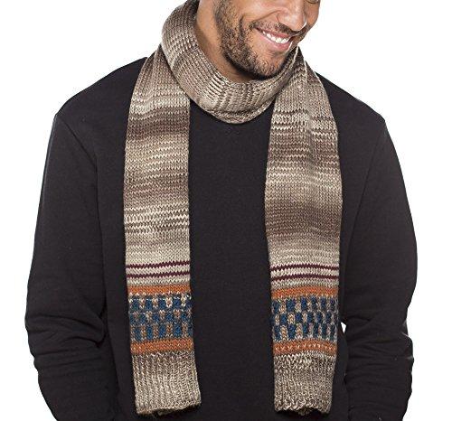 I-Smalls Bonnet d'hiver et Écharpe Polaire Tricoté Bloc Homme (Écharpe)
