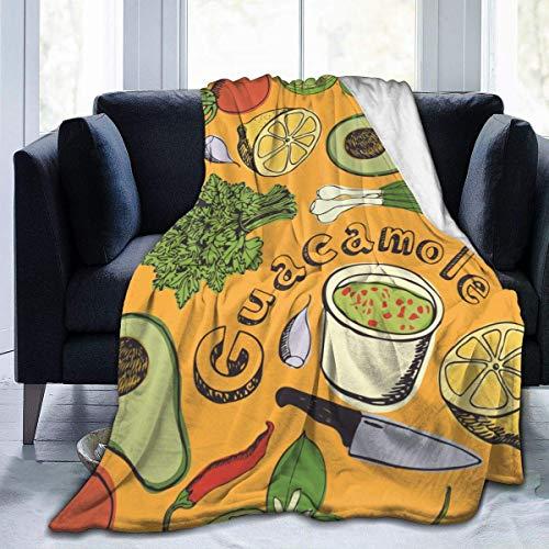 Juli Naadloos Model van Plantaardige Avocado Saus Ultra-Zacht Gezellige Micro Fleece Deken, Geweldig voor Slaapkamer Office