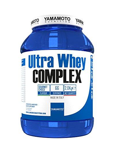 Yamamoto Nutrition Ultra Whey COMPLEX integratore alimentare per sportivi a base di proteine del siero di latte concentrate (Whey Concentrate) ed Isolate (Whey Isolate) (Caffè Espresso, 2000 grammi)