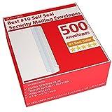500 Self Seal Security Mailing Envelopes - #10 White Letter Businesses Envelopes -500 Peel...