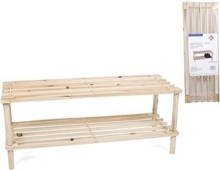 comprar comparacion Zapatero de madera con 2 pisos 30 x 74 x 26 cm