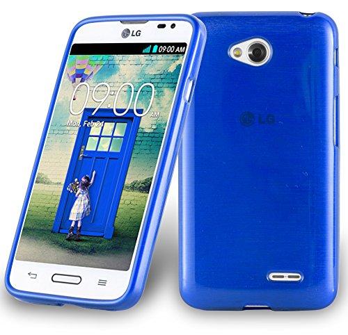 Cadorabo Funda para LG L70 (1.SIM) en Azul - Cubierta Proteccíon de Silicona TPU Delgada e Flexible con Antichoque - Gel Case Cover Carcasa Ligera