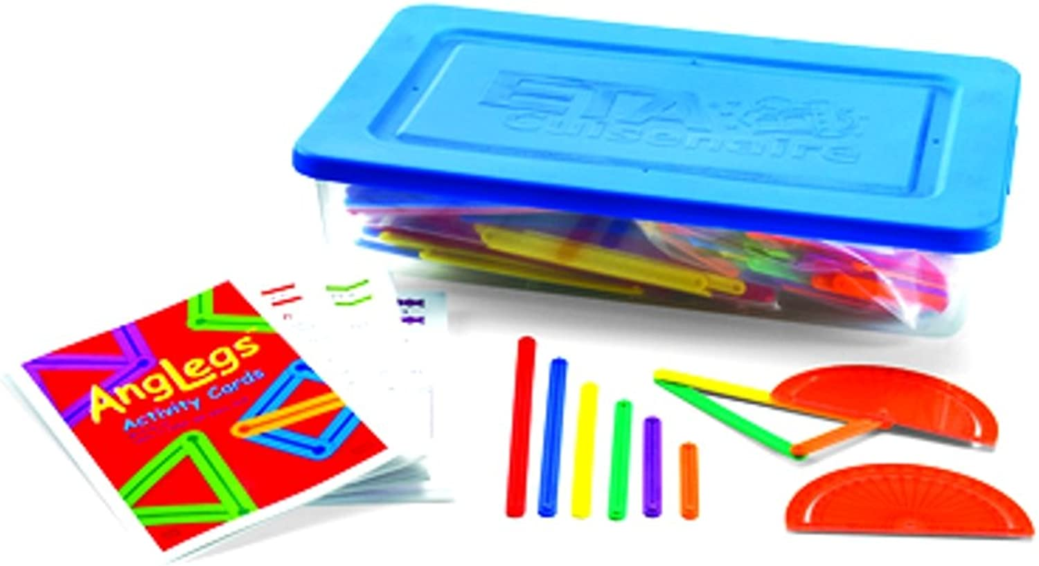 Hand2mind AngLegs Geometry Shape Kit with Classroom Activity Cards and Predractors (Pack of 432)
