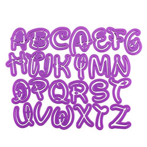 Dragonaur - Molde para magdalenas, diseño de letras de alfabeto