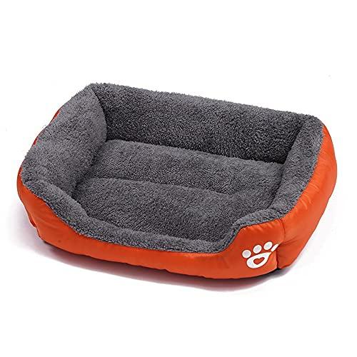 Felpa Cama para Mascotas Gatos Sofá para Perros Cómodo Cálida Cama Perros Cojín Perros Cesta Lavable Cama para Gatos Cama para Gatos Y Perros Pequeños Y Medianos Colchonetas Naranja M