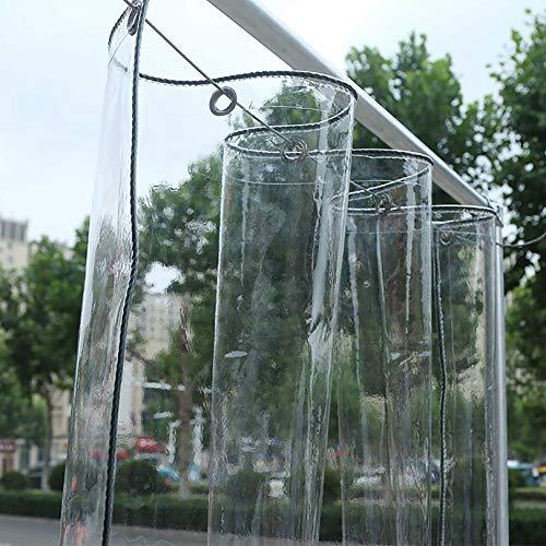 GCZ Lonas Lona Transparente Gruesa para Exterior, Lona Transparente de PVC Impermeable Ojales Grandes, Pérgola Duradera Terraza Porche Cubierta de Piscina