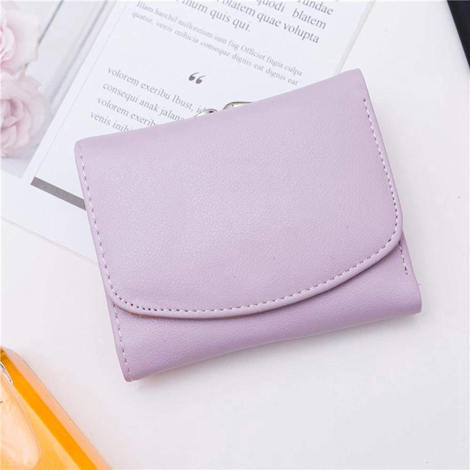 Girls Purse Women's Wallet,Short Bifold Ladies Wallet Thin Mini Purse Wallet PU Leather (color   A)