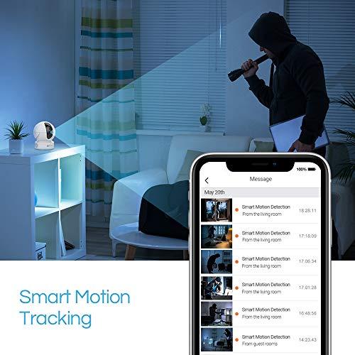 EZVIZ CTQ6C Überwachungskamera innen HD WLAN & LAN IP Dome PTZ Kamera mit Server in Europa, Nachtsicht, Bewegungsmelder, Two-Way-Audio, Handy App, Home/Baby/Haustier Indoor Cam Videoüberwachung