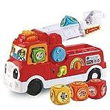 VTech - ABC, mon camion SOS pompiers - camion interactif enfant - camion de pompier rouge - Version FR
