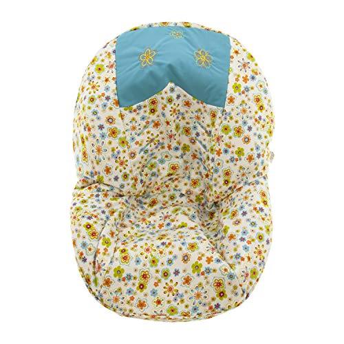 Colchoneta para silla de paseo grupo 0 Abatible Rosy Fuentes- Ideal para Capazos de Grupo 0 Abatibles - Funda Silla Paseo - Resistente y Duradero - Elaborado en Piqué - Color turquesa