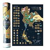 Mcbazel Landkarte zum Rubbeln 40 x 30 cm Thailand-Serie