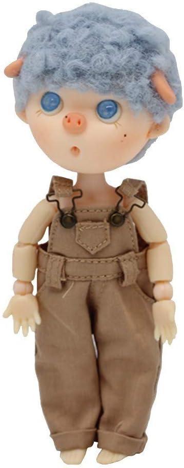 Uteruik BJD Dolls Denim Overalls Bib Pants for 1//12 BJD Doll Outfits Costume Accessory Girls Xmas Birthday Gift #B
