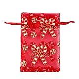 Bolsas Para Chuches 50Pcs / Lot Navidad Organza Bolsos 10X15Cm Partido Dibujable Joyería De Caramelo Chocolate Bolsa De Regalo Y Bolsas-J_10 * 15 Cm