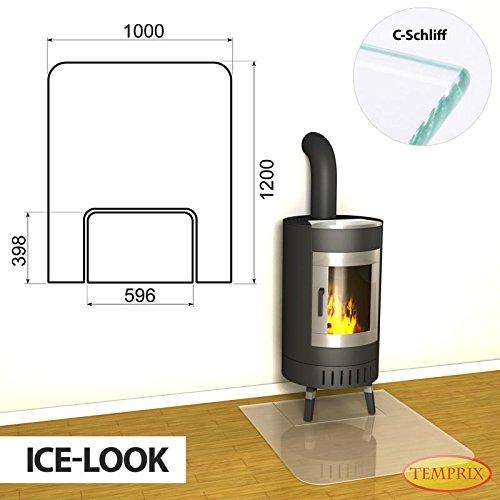 Vloerplaat Montreal open haard gedeelde glasplaat ijslook seizoensplaat oven inlegplaat schoorsteenvloerplaat
