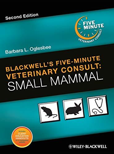 Blackwell's Five-Minute Veterinary Consult: Small Mammal