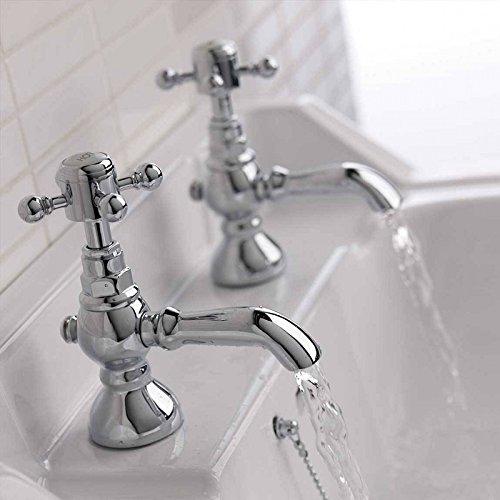 Enki–Miscelatore caldo freddo rubinetto lavandino per vintage tradizionale classico in ottone Belgravia