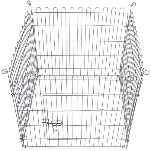 8-teiliges Freilaufgehege verzinkt mit Netz und Tür Ø ca. 204 cm - 7