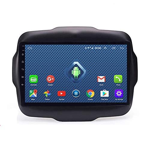 YSSSZ Navigatore GPS per Auto Android 10 per Jeep Renegade 2016-2018, Navigatore satellitare GPS con Radio Stereo con Touch Screen da 9 Pollici/FM/Bluetooth/USB/SWC,4G WiFi:2G+32G+DSP