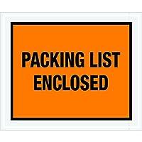 Tape Logic TLPL429 Packing List Enclosed Envelopes Full Face 10 x 12 Orange (Pack of 500) [並行輸入品]
