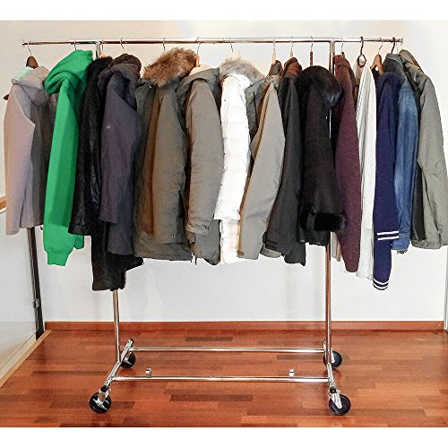 Tatkraft Drogo Heavy Duty Clothes Rack on Wheels, 220lb...