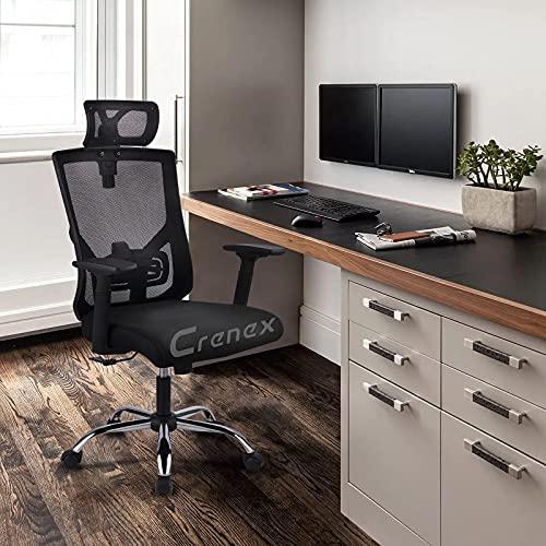 Bürostuhl Mit Hoher Rückenlehne Verstellbarer Computer-Gaming-Stuhl Mit Mesh W Kopfstütze Großbritannien Bequem Und Weich