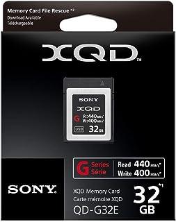 Sony 32GB XQD Flash Memory Card - High Speed G Series (Read 440MB/s and Write 400MB/s) - QDG32E