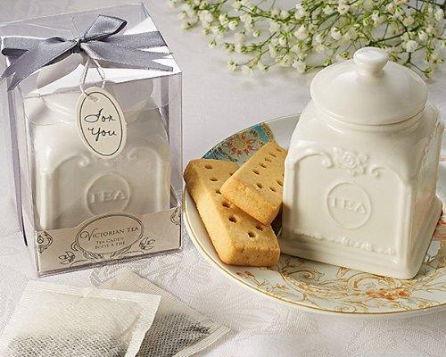 "Artisano Designs ""Victorian Tea Porcelain Tea Caddy"
