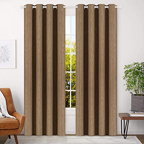 BEST DREAMCITY Blackout Curtains Blue 84 inch Bedroom Curtains Living...