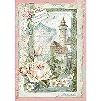 Stamperia Intl DFSA4347 Stamperia Rice Paper Sheet A4 Castle Fantasy