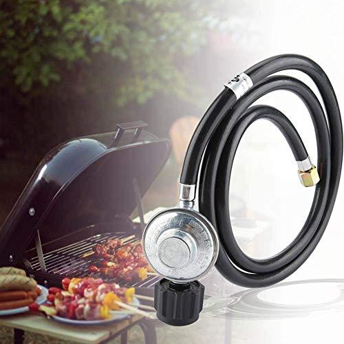 Jeffergarden Válvula de Baja Presión del Adaptador del Regulador de Gas Propano con una Manguera de 1.5 m para la Estufa del Horno del BBQ de LP/LPG