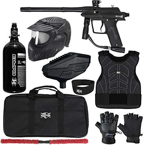 Action Village Azodin Blitz 4 Protector Paintball Gun Package Kit Level 2 (Dust Black/Polished Black, Small/Medium)