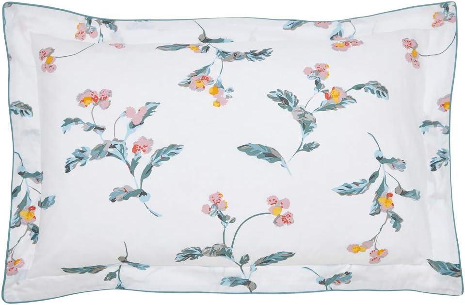 Joules Swanton Floral Pillow Case 100 Cotton Percale 180 Thread Count White Oxford Amazon Co Uk Kitchen Home