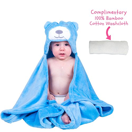 Baby Boy Girl Bath Plush Robes Bear Hooded Blanket with Complimentary Towel - Best for Baby Shower and Newborn By Jornix