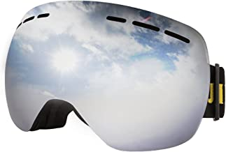 JIEPOLLY Ski Goggles, Winter Sports Snowmobile Snowboard Glasses with Anti-Fog Double Layer Lens,for Women Men Skiing Skating Climbing Motocross Riding Sales