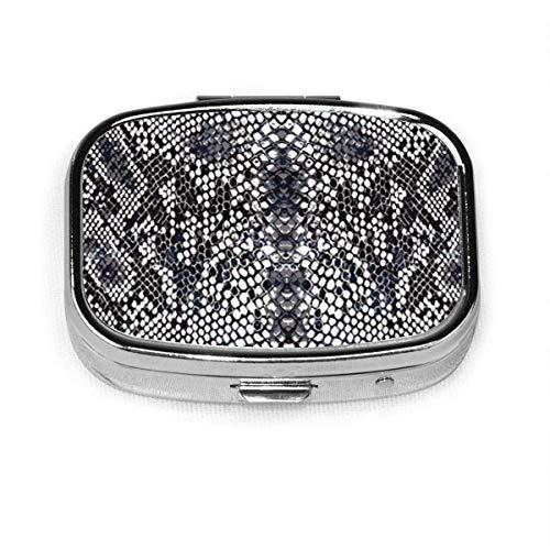 Tablettendose mit Schlangen-Python-Motiv, personalisierbar, quadratisch, dekorativ, Vitamin-Behälter, Tasche oder Geldbörse