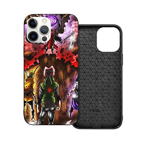 Yooan Team 7 VS Madara Compatible con iPhone 12/12 Pro MAX 12 Mini 11 Pro MAX SE 2020 X XS MAX XR 8 7 6 7s Plus Samsung Huawei Series Cajas de teléfono Negras
