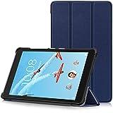 TTVie Housse pour Lenovo Tab E8 - Étui Ultra Mince et Léger à Rabat avec Support pour Lenovo E8 TB-8304F Tablette Tactile 8' Modèle 2018, Indigo