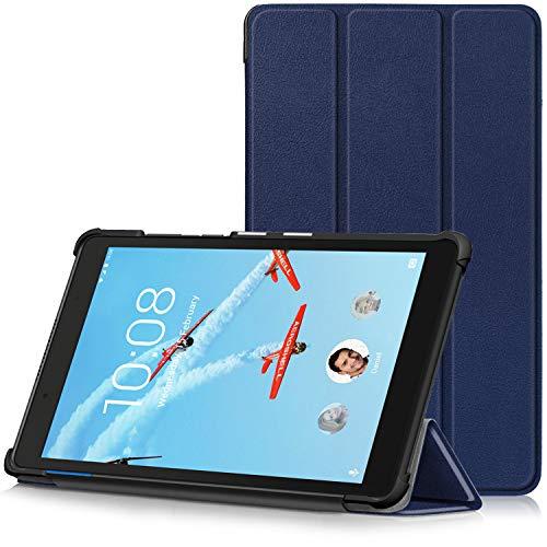 TTVie Hoes voor Lenovo Tab E8, Ultraslanke Lichtgewicht Slimme Standaard Beschermhoes voor Lenovo Tab E8 8 Inch Tablet 2018 Release, Indigo