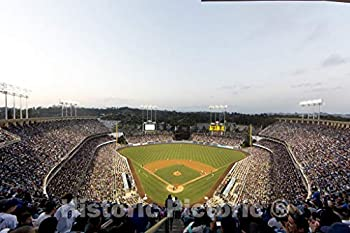 Historic Pictoric Los Angeles CA Photo - Dodger Stadium Los Angeles California - 24in x 16in