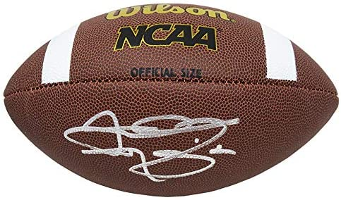 Johnny Manziel Signed safety Wilson NCAA Size Full favorite Football Autograph -