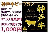 神戸牛ビーフカレー160g (3食セット)