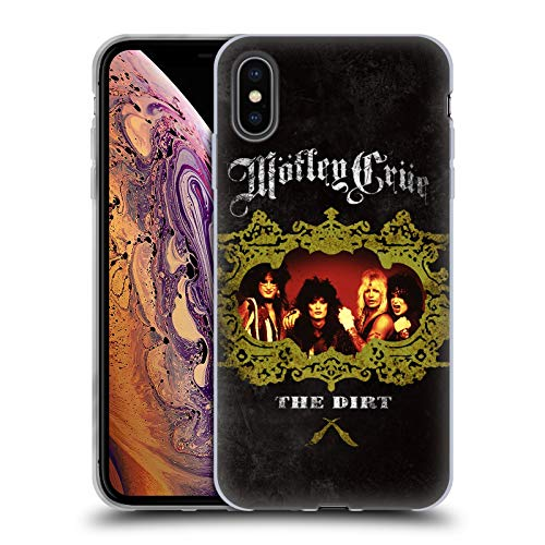 Head Case Designs Oficial Motley Crue The Dirt Frame Key Art Carcasa de Gel de Silicona Compatible con Apple iPhone XS MAX