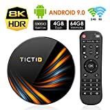 Android TV BOX 9.0 4GB DDR3 + 64GB EMCC, TICTID TV Box Android TX6 Plus Amlogic S905X3 32-bit quad core ARM Cortex A55, Dual Wi-Fi 2,4G/5G, 1000M LAN, BT 4.0, TV Box Decodifica8K