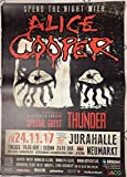 AFFICHE / Poster Alice Cooper Touor 2017/Thunder, 60 x 84