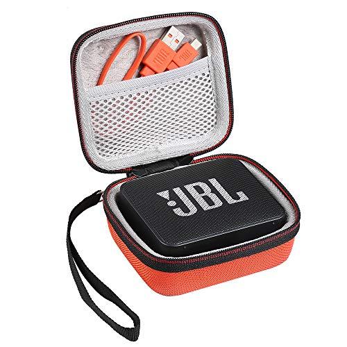 Shucase Hart Reise Tasche für JBL Go Ultra/JBLGO2BLK GO2 Wireless Bluetooth Lautsprecher(orange)
